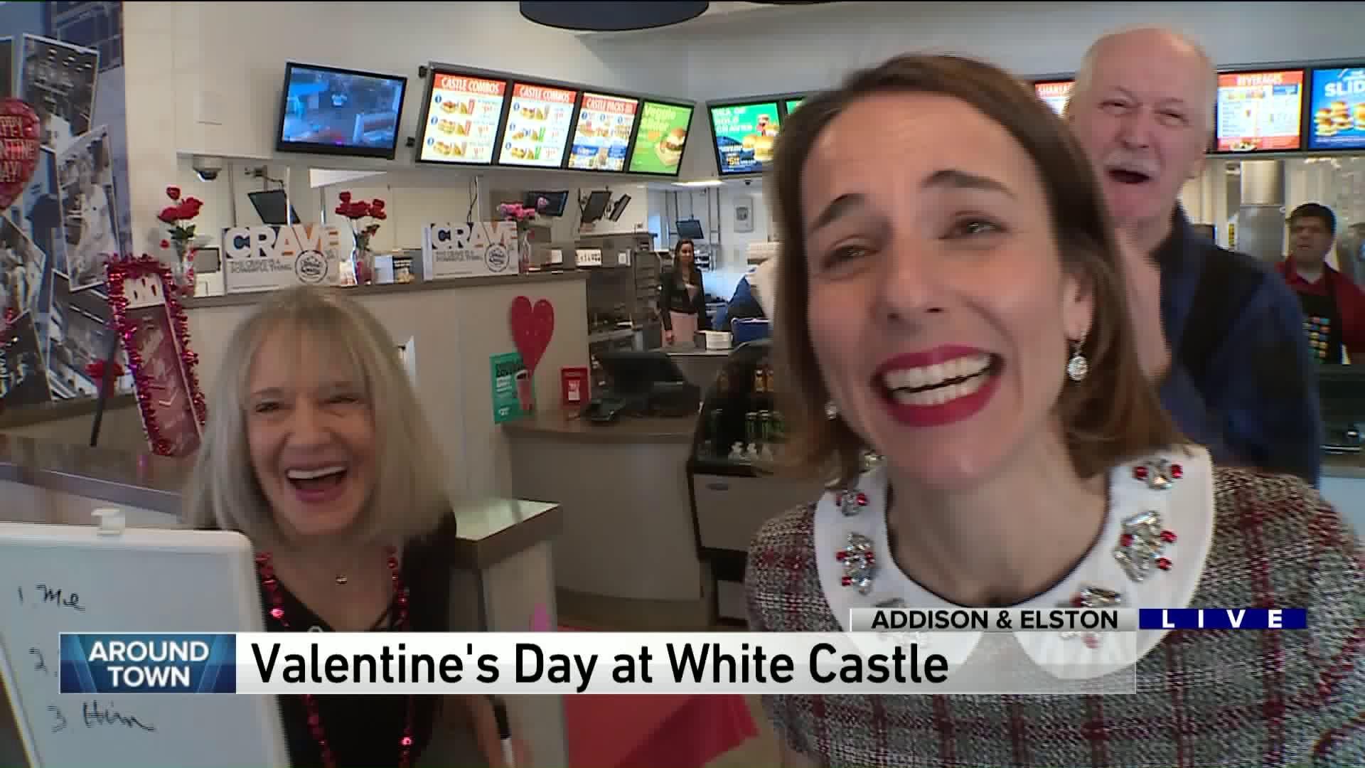 Around Town celebrates Valentine's Day at White Castle