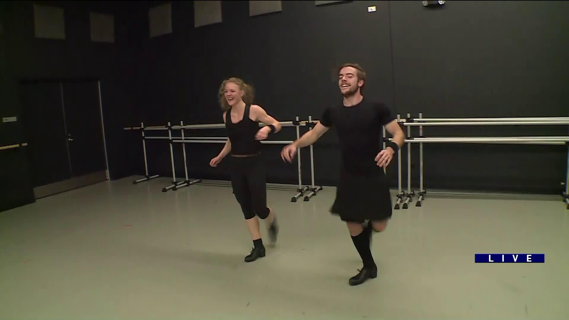 Around Town dances with the Trinity Irish Dance Company