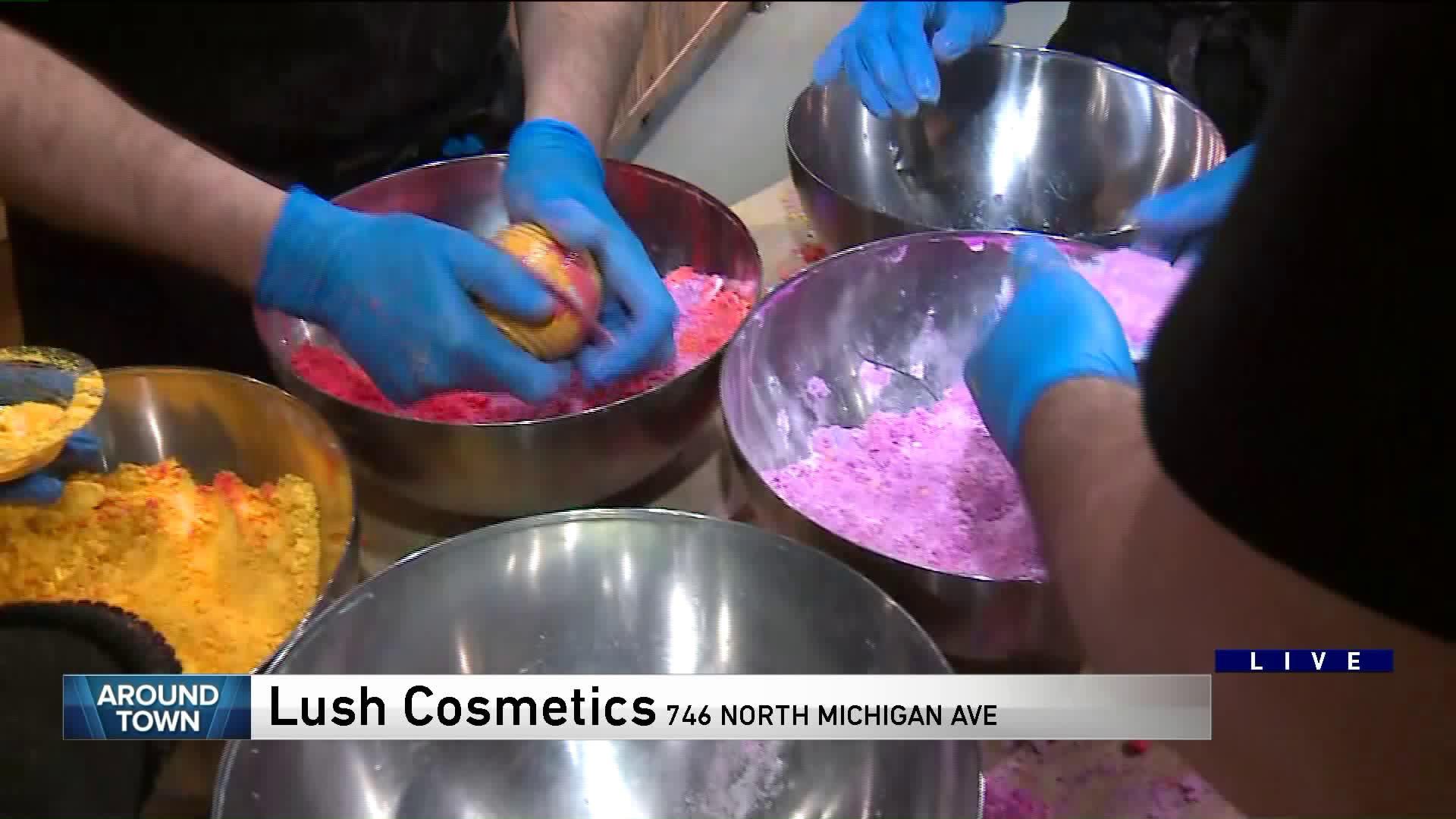Around Town makes bath bombs at LUSH Cosmetics